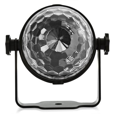 UKing ZQ - B12 Crystal Ball Stage LightStage Lighting<br>UKing ZQ - B12 Crystal Ball Stage Light<br><br>Beam Distance (m): 30-40<br>Body Color: Black,Orange,Silver<br>Brand: UKing<br>Control Mode: Auto Mode, Remote Control, Voice-activated<br>Function: For party, For Decoration<br>Illumination Field (sq.m.): 30-60<br>Laser Color: RGB Light<br>Lifespan (hour): 10000h<br>Material: ABS<br>Model: ZQ-B12<br>Package Contents: 1 x LED Stage Light, 1 x Remote Controller ( with Button Battery ), 1 x English Manual<br>Package size (L x W x H): 11.00 x 10.00 x 12.00 cm / 4.33 x 3.94 x 4.72 inches<br>Package weight: 0.300 kg<br>Plug Type: US plug, EU plug<br>Product Size(L x W x H): 10.00 x 8.50 x 8.50 cm / 3.94 x 3.35 x 3.35 inches<br>Product weight: 0.220 kg<br>Shape: Ball Light<br>Total Emitters: 3<br>Type: LED Effects Stage Light<br>Voltage Type: AC 100-240V 50-60Hz