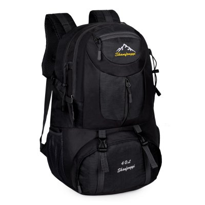 Polyester 40L Mountaineering Backpack Bag with Fixed BuckleBackpacks<br>Polyester 40L Mountaineering Backpack Bag with Fixed Buckle<br><br>Bag Capacity: 40L<br>Capacity: 31 - 40L<br>For: Camping, Hiking, Traveling<br>Material: Nylon, Polyester<br>Package Contents: 1 x Mountaineering Backpack<br>Package size (L x W x H): 38.00 x 35.00 x 6.00 cm / 14.96 x 13.78 x 2.36 inches<br>Package weight: 0.825 kg<br>Product size (L x W x H): 50.00 x 33.00 x 20.00 cm / 19.69 x 12.99 x 7.87 inches<br>Product weight: 0.775 kg<br>Type: Hiking