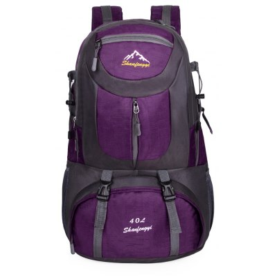 Polyester 40L Mountaineering Backpack Bag with Fixed Buckle