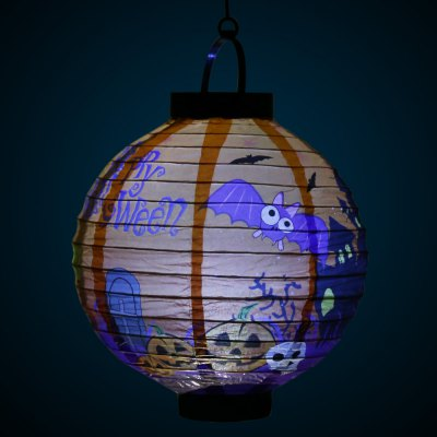 BRELONG LED Halloween Paper Lantern AAA Battery OperatedLED Strips<br>BRELONG LED Halloween Paper Lantern AAA Battery Operated<br><br>Actual Lumens: 9LM<br>Battery: 2 x AAA battery (not included)<br>Brand: BRELONG<br>LED Type: SMD-0603<br>Material: Plastic, Paper<br>Optional Light Color: White<br>Package Contents: 1 x Lantern, 1 x Holder<br>Package size (L x W x H): 30.50 x 21.50 x 5.50 cm / 12.01 x 8.46 x 2.17 inches<br>Package weight: 0.160 kg<br>Product size (L x W x H): 23.00 x 20.00 x 20.00 cm / 9.06 x 7.87 x 7.87 inches<br>Product weight: 0.042 kg<br>Rated Power (W): 0.1W<br>Type: Festival Light
