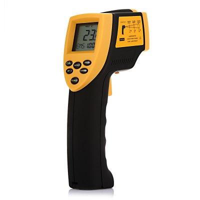 ELECALL EM800 Non-contact Digital IR Infrared ThermometerTemperature Instruments<br>ELECALL EM800 Non-contact Digital IR Infrared Thermometer<br><br>Brand: ELECALL<br>Model: EM800<br>Package Contents: 1 x ELECALL EM800 Thermometer ( with Battery ), 1 x Box<br>Package size (L x W x H): 26.00 x 22.00 x 7.00 cm / 10.24 x 8.66 x 2.76 inches<br>Package weight: 0.7300 kg<br>Product size (L x W x H): 18.00 x 9.50 x 5.00 cm / 7.09 x 3.74 x 1.97 inches<br>Product weight: 0.1910 kg<br>Range: -50 - 800 Degree Celsius<br>Temperature Type: Fahrenheit, Celsius