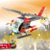 LOZ ABS 89pcs Firefighter Helicopter Building Block DIY Model for sale