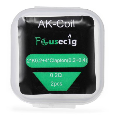 Original Focusecig 0.2 ohm AK-Coil for E Cigarette ( 2pcs / Box )