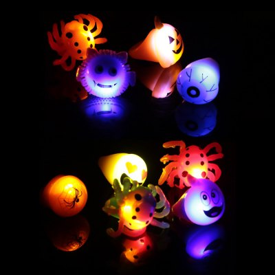 10PCS BRELONG Flashing LED Finger Light Halloween Christmas Party Favors