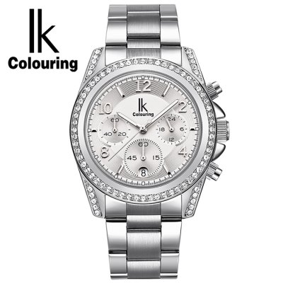 IK COLOURING Fashion Lady Quartz WatchWomens Watches<br>IK COLOURING Fashion Lady Quartz Watch<br><br>Watches categories: Female table<br>Watch style: Fashion<br>Watch color: Black + Silver, Black + Gold, Black + Rose Red, Black + Rose Gold, Silver, Rose Gold, Black, White<br>Movement type: Quartz watch<br>Shape of the dial: Round<br>Display type: Analog<br>Case material: Stainless Steel<br>Band material: Stainless Steel<br>Clasp type: Folding clasp with safety<br>Water resistance : 30 meters<br>Special features: Luminous,Working sub-dial<br>Dial size: 3.9 x 3.9 x 1 cm / 1.54 x 1.54 x 0.39 inches<br>Band size: 24.5 x 1.78 cm / 9.65 x 0.70 inches<br>Product weight: 0.101 kg<br>Package weight: 0.191 kg<br>Product size (L x W x H): 24.50 x 3.90 x 1.00 cm / 9.65 x 1.54 x 0.39 inches<br>Package size (L x W x H): 28.00 x 8.00 x 3.50 cm / 11.02 x 3.15 x 1.38 inches<br>Package Contents: 1 x IK COLOURING Fashion Lady Quartz Watch