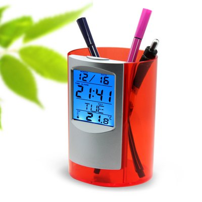 Multifunctional Plastic Pen Holder