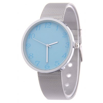 Steel Band Alloy Analog Quartz Watch