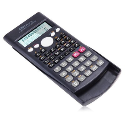 Deli 1710 Scientific Calculator with Textbook DisplayCalculators<br>Deli 1710 Scientific Calculator with Textbook Display<br><br>Brand: Deli<br>Package Contents: 1 x Deli 1710 Scientific Calculator<br>Package size (L x W x H): 11.00 x 22.00 x 2.00 cm / 4.33 x 8.66 x 0.79 inches<br>Package weight: 0.143 kg<br>Product size (L x W x H): 16.80 x 8.40 x 1.80 cm / 6.61 x 3.31 x 0.71 inches<br>Product weight: 0.115 kg<br>Working Type: Offline
