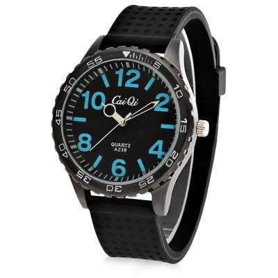 CaiQi A238 Casual Style Blue Number Dial Male Quartz Watch