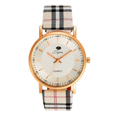 Jijia Plaid Leather Band Women Quartz WatchWomens Watches<br>Jijia Plaid Leather Band Women Quartz Watch<br><br>Available Color: Black,White<br>Band material: Leather<br>Brand: Jijia<br>Case material: Alloy<br>Clasp type: Pin buckle<br>Display type: Analog<br>Movement type: Quartz watch<br>Package Contents: 1 x Jijia Watch<br>Package size (L x W x H): 25.00 x 4.80 x 2.00 cm / 9.84 x 1.89 x 0.79 inches<br>Package weight: 0.0780 kg<br>Product size (L x W x H): 24.00 x 3.80 x 1.00 cm / 9.45 x 1.5 x 0.39 inches<br>Product weight: 0.0280 kg<br>Shape of the dial: Round<br>Style: Fashion&amp;Casual<br>The band width: 2.0 cm / 0.79 inches<br>The dial diameter: 3.8 cm / 1.49 inches<br>The dial thickness: 1.0 cm / 0.39 inches<br>Watches categories: Unisex table