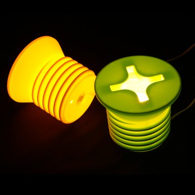 BRELONG Screw-shaped Design Incandescent Night LightNovelty lighting<br>BRELONG Screw-shaped Design Incandescent Night Light<br><br>Brand: BRELONG<br>Input Voltage: AC220<br>Material: PP<br>Optional Color: Green,Yellow<br>Optional Light Color: Warm White<br>Package Contents: 1 x Incandescent Night Light, 1 x EU Plug<br>Package size (L x W x H): 17.50 x 17.50 x 15.00 cm / 6.89 x 6.89 x 5.91 inches<br>Package weight: 0.3830 kg<br>Plug: EU plug,US plug<br>Power Supply: AC Power<br>Product size (L x W x H): 16.50 x 16.50 x 14.50 cm / 6.5 x 6.5 x 5.71 inches<br>Product weight: 0.2800 kg<br>Type: Night Light