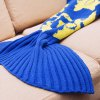 cheap Cartoon Warm Knitted Mermaid Blanket for Kids
