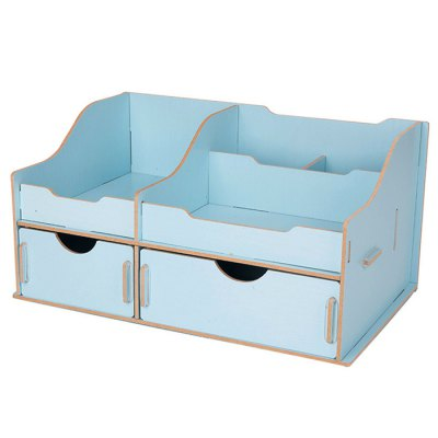 Deli Practical Wooden DIY Storage BoxDesk Organizers<br>Deli Practical Wooden DIY Storage Box<br><br>Brand: Deli<br>Material: Wood<br>Color: Blue,Off-white,Pink<br>Product weight: 0.1200 kg<br>Package weight: 0.8870 kg<br>Product size (L x W x H): 27.30 x 17.30 x 14.00 cm / 10.75 x 6.81 x 5.51 inches<br>Package size (L x W x H): 28.00 x 12.00 x 15.00 cm / 11.02 x 4.72 x 5.91 inches<br>Package Contents: 1 x Deli Wooden DIY Storage Box