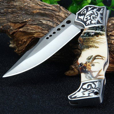 BODA A03 Back Lock Pocket Knife with 3Cr13 Blade