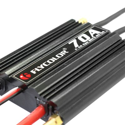 Flycolor FLY - S70A Brushless ESCESC<br>Flycolor FLY - S70A Brushless ESC<br><br>Brand: Flycolor<br>Type: ESC<br>Product weight: 0.101 kg<br>Package weight: 0.180 kg<br>Product size (L x W x H): 5.70 x 4.90 x 1.80 cm / 2.24 x 1.93 x 0.71 inches<br>Package size (L x W x H): 10.00 x 6.00 x 4.00 cm / 3.94 x 2.36 x 1.57 inches<br>Package Contents: 1 x ESC