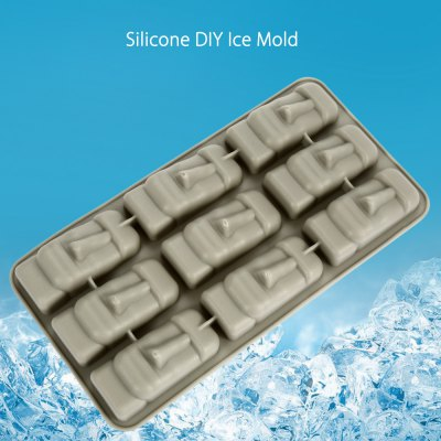 Silicone Stone DIY Ice Mold Cool Drinks Making Tool with 9 Grids
