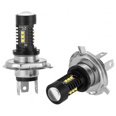 H4 2PCS 12 Cree XB - D LED Car Lamp
