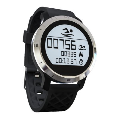 F69 Smart BT IP68 Waterproof Smart WatchSmart Watches<br>F69 Smart BT IP68 Waterproof Smart Watch<br><br>Alert type: Vibration<br>Available Color: Black,Gray,Yellow<br>Band material: Silicone<br>Band size: 1.8 cm / 0.71 inches (W)<br>Battery  Capacity: 180mAh<br>Bluetooth calling: Phone call reminder<br>Bluetooth Version: Bluetooth 4.0<br>Case material: Stainless Steel<br>Compatability: Android 4.3 / iOS 8.0 or above system<br>Compatible OS: Android, IOS<br>Dial size: 3.8 x 3.8 x 1.0 cm / 1.5. x 1.5 x  0.39 inches<br>Health tracker: Heart rate monitor,Pedometer,Sedentary reminder,Sleep monitor<br>IP rating: IP68<br>Language: English,Simplified Chinese,Traditional Chinese<br>Messaging: Message reminder<br>Notification: Yes<br>Notification type: Wechat, Facebook, Twitter<br>Operating mode: Touch Screen<br>Other Function: Waterproof, Alarm<br>Package Contents: 1 x F69 Smart Watch, 1 x Charging Dock, 1 x USB Charging Cable, 1 x Chinese and English Manual<br>Package size (L x W x H): 9.00 x 9.00 x 5.00 cm / 3.54 x 3.54 x 1.97 inches<br>Package weight: 0.1460 kg<br>People: Female table,Male table<br>Product weight: 0.0340 kg<br>RAM: 16K<br>ROM: 256K<br>Screen: LCD<br>Screen resolution: 128 x 128<br>Screen size: 1.0 inch<br>Shape of the dial: Round<br>Standby time: About 144 hours<br>Type of battery: Polymer battery<br>Waterproof: Yes