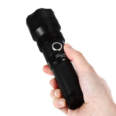 UltraFire UF - V9CS Cree XPL V5 1100Lm Waterproof LED FlashlightLED Flashlights<br>UltraFire UF - V9CS Cree XPL V5 1100Lm Waterproof LED Flashlight<br><br>Battery Quantity: 1 (not included)<br>Battery Type: 26650, 18650<br>Beam Distance: 200-250m<br>Body Material: Aluminium Alloy<br>Brand: Ultrafire<br>Color Temperature: 7000-7500K<br>Emitters: Cree XP-L V5<br>Emitters Quantity: 1<br>Feature: Cooling Slot of High Efficiency, Lanyard<br>Function: Walking, Night Riding, Household Use, Hiking, EDC, Camping<br>Lens: Glass Lens<br>Lumens Range: &gt;1000Lumens<br>Luminous Flux: 1100LM<br>Mode: 5(Low; Mid; High; Strobe; SOS)<br>Model: UF-V9CS<br>Package Contents: 1 x UF-V9CS LED Flashlight, 1 x Lanyard<br>Package size (L x W x H): 15.50 x 5.40 x 5.40 cm / 6.1 x 2.13 x 2.13 inches<br>Package weight: 0.210 kg<br>Power: 10W<br>Power Source: Battery<br>Product size (L x W x H): 16.00 x 4.40 x 4.40 cm / 6.3 x 1.73 x 1.73 inches<br>Product weight: 0.161 kg<br>Reflector: Aluminum Smooth Reflector<br>Switch Location: Side Switch<br>Waterproof Standard: IPX-8 Standard Waterproof<br>Working Voltage: 3.7-4.2V