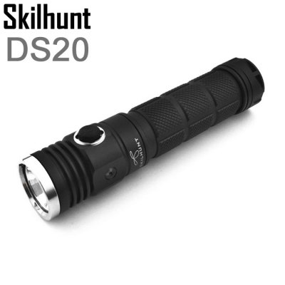 Skilhunt DS20 Cree XM  -  L2 LED EDC Waterproof Flashlight Battery Torch ( 5 Modes 480LM 1 x 18650 or 2 x CR123A / RCR123A Battery )