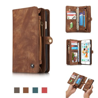 CaseMe Ancient Style PU Leather Wallet Phone Cover Case for iPhone 6 Plus / 6S Plus