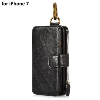 Crazy Horse Leather Wallet Phone Case for iPhone 7