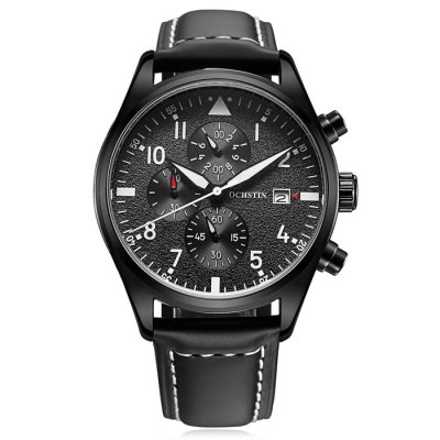 OCHSTIN Outdoor Working Sub-dial 3ATM Men Quartz WatchMens Watches<br>OCHSTIN Outdoor Working Sub-dial 3ATM Men Quartz Watch<br><br>Watches categories: Male table<br>Watch style: Trends in outdoor sports<br>Available color: Black,Coffee,Orange<br>Movement type: Quartz watch<br>Shape of the dial: Round<br>Display type: Analog<br>Case material: Stainless Steel<br>Band material: Genuine Leather<br>Clasp type: Pin buckle<br>Special features: Date,Day,Stopwatch<br>Water resistance : 30 meters<br>Dial size: 4.2 x 4.2 x 1.3 cm / 1.65 x 1.65 x 0.51 inches<br>Band size: 25 x 2.2 cm / 9.84 x 0.87 inches<br>Product weight: 0.072 kg<br>Package weight: 0.132 kg<br>Product size (L x W x H): 25.00 x 4.20 x 1.30 cm / 9.84 x 1.65 x 0.51 inches<br>Package size (L x W x H): 28.00 x 8.00 x 3.50 cm / 11.02 x 3.15 x 1.38 inches<br>Package Contents: 1 x OCHSTIN Outdoor Men Quartz Watch