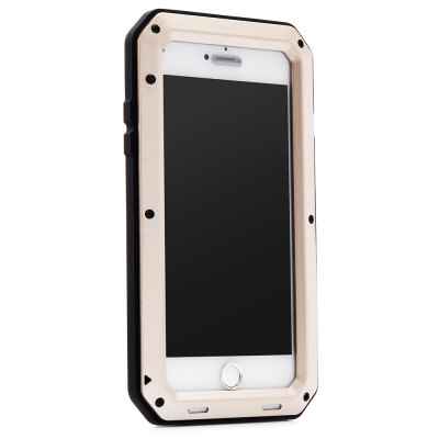 Stainless Steel Silicone Bumper Anti-drop Phone Case for iPhone 7