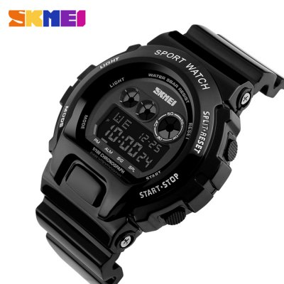 SKMEI 1150 Sports Backlight Digital Men WatchLED Watches<br>SKMEI 1150 Sports Backlight Digital Men Watch<br><br>Brand: Skmei<br>People: Male table<br>Watch style: Outdoor Sports<br>Available Color: Black,Purple<br>Movement type: Digital watch<br>Shape of the dial: Round<br>Display type: Digital<br>Hour formats: 12/24 Hour<br>Case material: PU<br>Band material: PU<br>Clasp type: Pin buckle<br>Special features: Alarm Clock,Date,Day,EL Back-light,Stopwatch<br>Water resistance : 50 meters<br>Dial size: 5.2 x 5.2 x 1.6 cm / 2.05 x 2.05 x 0.63 inches<br>Band size: 27 x 2.2 cm / 10.63 x 0.87 inches<br>Wearable length: 17.5 - 24 cm / 6.89 - 9.45 inches<br>Product weight: 0.066 kg<br>Package weight: 0.133 kg<br>Product size (L x W x H): 27.00 x 5.20 x 1.60 cm / 10.63 x 2.05 x 0.63 inches<br>Package size (L x W x H): 8.00 x 8.00 x 8.00 cm / 3.15 x 3.15 x 3.15 inches<br>Package Contents: 1 x SKMEI 1150 Sports Men Digital Watch, 1 x Box