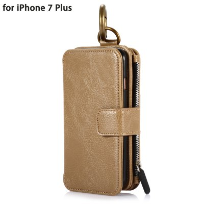 Crazy Horse Leather Wallet Phone Case for iPhone 7 Plus