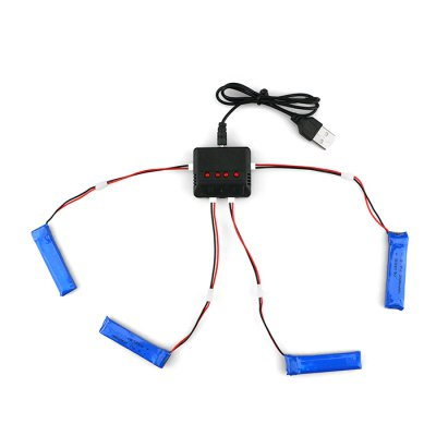 WSX / MX 4 x 3.7V 200mAh 30C LiPo Battery + Charger SetBattery<br>WSX / MX 4 x 3.7V 200mAh 30C LiPo Battery + Charger Set<br><br>Battery Coulomb: 30C<br>Battery Voltage: 1S<br>Brand: WSX / MX<br>Package Contents: 4 x 3.7V 200mAh Battery, 1 x Balance Charger, 1 x USB Cable, 1 x US Adapter, 1 x EU Connector, 4 x Cable<br>Package size (L x W x H): 14.50 x 9.00 x 5.00 cm / 5.71 x 3.54 x 1.97 inches<br>Package weight: 0.3000 kg<br>Product weight: 0.2250 kg<br>Single battery size: about 5.3 x 1.1 x 0.6cm<br>Type: Charger Set, Battery