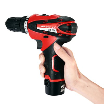 POWERACTION CD6262 12V Rechargeable Electric Screwdriver