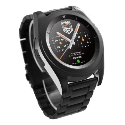 NO.1 G6 Bluetooth 4.0 Heart Rate Monitor Smart WatchSmart Watches<br>NO.1 G6 Bluetooth 4.0 Heart Rate Monitor Smart Watch<br><br>Brand: NO.1<br>Built-in chip type: MTK2502<br>Bluetooth version: Bluetooth 4.0<br>Bluetooth calling: Dialing,Phone call reminder<br>Messaging: Message reminder<br>Health tracker: Heart rate monitor,Pedometer,Sedentary reminder,Sleep monitor<br>Remote control function: Remote Camera,Remote music<br>Notification type: Facebook,Twitter<br>Alert type: Vibration<br>Other function: Alarm<br>Screen resolution: 240 x 240<br>Screen size: 1.2 inch<br>Operating mode: Press button,Touch Screen<br>Type of battery: Polymer Lithium Battery<br>Battery Capacty: 380mAh<br>People: Male table<br>Shape of the dial: Round<br>Case material: Stainless Steel<br>Band material: Steel<br>Compatible OS: Android,IOS<br>Language: English,French,German,Italian,Portuguese,Portuguese (Brazil),Russian,Spanish,Turkish<br>Available color: Black,Silver<br>Dial size: 4.5 x 4.5 x 1 cm / 1.77 x 1.77 x 0.39 inches<br>Band size: 26 x 2 cm / 10.24 x 0.79 inches<br>Product size (L x W x H): 26.00 x 4.50 x 1.00 cm / 10.24 x 1.77 x 0.39 inches<br>Package size (L x W x H): 10.00 x 8.00 x 8.00 cm / 3.94 x 3.15 x 3.15 inches<br>Product weight: 0.109 kg<br>Package weight: 0.246 kg<br>Package Contents: 1 x NO.1 G6 Sports Smart Watch, 1 x Charging Cable, 1 x Chinese and English User Manual