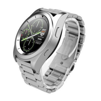 NO.1 G6 Bluetooth 4.0 Heart Rate Monitor Smart WatchSmart Watches<br>NO.1 G6 Bluetooth 4.0 Heart Rate Monitor Smart Watch<br><br>Brand: NO.1<br>Built-in chip type: MTK2502<br>Bluetooth version: Bluetooth 4.0<br>ROM: 32MB<br>Bluetooth calling: Dialing,Phone call reminder<br>Messaging: Message reminder<br>Health tracker: Heart rate monitor,Pedometer,Sedentary reminder,Sleep monitor<br>Remote control function: Remote Camera,Remote music<br>Notification type: Facebook,Twitter<br>Alert type: Vibration<br>Other function: Alarm<br>Screen resolution: 240 x 240<br>Screen size: 1.2 inch<br>Operating mode: Press button,Touch Screen<br>Type of battery: Polymer Lithium Battery<br>Battery Capacty: 380mAh<br>People: Male table<br>Shape of the dial: Round<br>Case material: Stainless Steel<br>Band material: Steel<br>Compatible OS: Android,IOS<br>Language: English,French,German,Italian,Portuguese,Portuguese (Brazil),Russian,Spanish,Turkish<br>Available color: Black,Silver<br>Dial size: 4.5 x 4.5 x 1 cm / 1.77 x 1.77 x 0.39 inches<br>Band size: 22 x 2.2cm<br>Product size (L x W x H): 26.00 x 4.50 x 1.00 cm / 10.24 x 1.77 x 0.39 inches<br>Package size (L x W x H): 10.00 x 8.00 x 8.00 cm / 3.94 x 3.15 x 3.15 inches<br>Product weight: 0.109 kg<br>Package weight: 0.246 kg<br>Package Contents: 1 x NO.1 G6 Sports Smart Watch, 1 x Charging Cable, 1 x Chinese and English User Manual