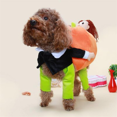 Halloween Pumpkin Dog Pet Costume Clothes