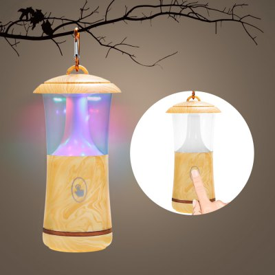 Touch Sensitive LED Night Light Hanging Lamp Wood Grain Design
