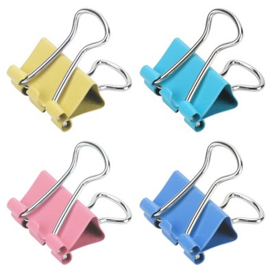 Deli 8555ES 19mm Metal Binder Clips 40PCS