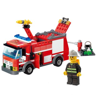 206pcs ABS Building Block Fire Engine Model DIY