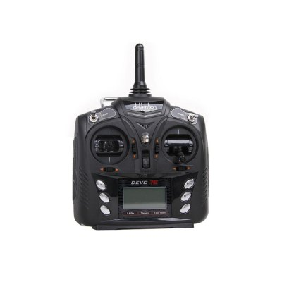Walkera Devo 7E 7CH Transmitter Mode 2 without ReceiverRadios &amp; Receiver<br>Walkera Devo 7E 7CH Transmitter Mode 2 without Receiver<br><br>Brand: Walkera<br>Mode: Mode 2 (Left Hand Throttle)<br>Package Contents: 1 x Transmitter, 2 x Cable, 1 x CD<br>Package size (L x W x H): 27.00 x 22.00 x 13.00 cm / 10.63 x 8.66 x 5.12 inches<br>Package weight: 0.870 kg<br>Product size (L x W x H): 15.40 x 15.00 x 5.60 cm / 6.06 x 5.91 x 2.2 inches<br>Product weight: 0.400 kg<br>Type: Transmitter