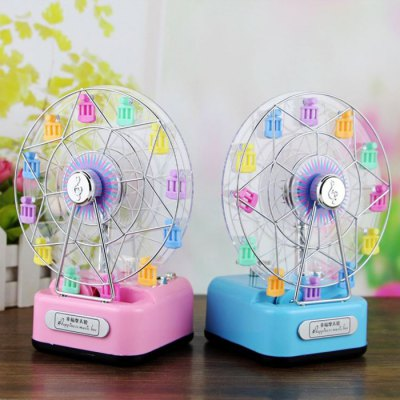 Colorful Ferris Wheel Music BoxNovelty Toys<br>Colorful Ferris Wheel Music Box<br><br>Features: Creative Toy<br>Materials: ABS, Electronic Components<br>Package Contents: 1 x Music Box<br>Package size: 10.00 x 10.00 x 20.00 cm / 3.94 x 3.94 x 7.87 inches<br>Package weight: 0.280 kg<br>Product size: 8.50 x 9.00 x 17.00 cm / 3.35 x 3.54 x 6.69 inches<br>Product weight: 0.200 kg<br>Series: Lifestyle<br>Theme: Music,Romantic