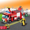 206pcs ABS Building Block Fire Engine Model DIY for sale