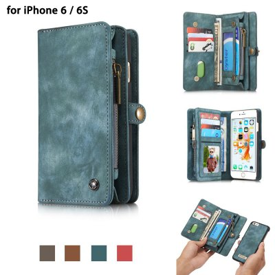 CaseMe Prehistoric PU Leather Wallet Pocket Protective Phone Cover Case for iPhone 6 / 6S