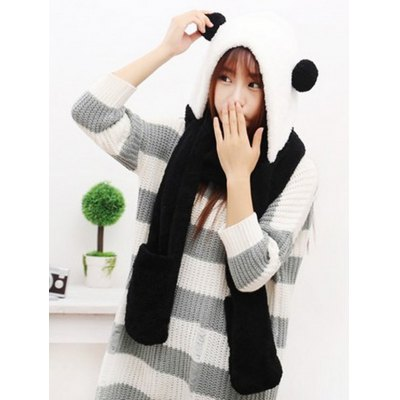 Three-in-one Winter Hat Scarf Gloves
