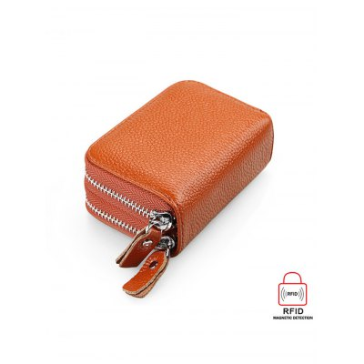 Anti-theft Leather RFID WalletCoin Purse &amp; Card Holder<br>Anti-theft Leather RFID Wallet<br><br>Material: Leather<br>Package weight: 0.134 kg<br>Product Size(L x W x H): 11.00 x 7.50 x 4.00 cm / 4.33 x 2.95 x 1.57 inches<br>Package Size(L x W x H): 12.00 x 8.00 x 5.00 cm / 4.72 x 3.15 x 1.97 inches<br>Packing List: 1 x RFID Wallet