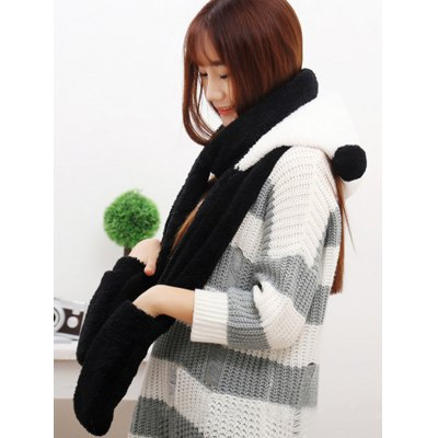 Three-in-one Winter Plush Hat Scarf Gloves for WomenWomens Hats<br>Three-in-one Winter Plush Hat Scarf Gloves for Women<br><br>Group: Adult<br>Hat Type: Hat Scarf Glove Set<br>Material: Coral Velvet<br>Package Content: 1 x Hat Scarf Gloves Set<br>Package Dimension: 40.00 x 30.00 x 5.00 cm / 15.75 x 11.81 x 1.97 inches<br>Package weight: 0.365 kg<br>Pattern Type: Animal<br>Product weight: 0.330 kg<br>Style: Casual
