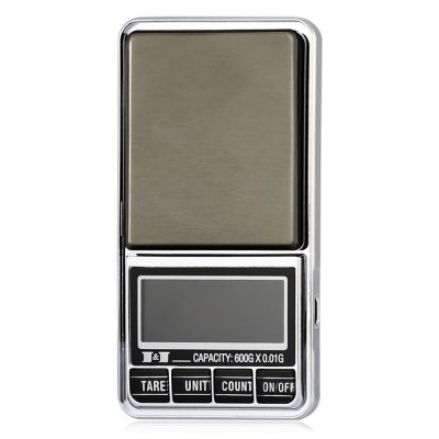DS - 29 600g Mini LCD Screen Digital Jewelry ScaleDigital Scales<br>DS - 29 600g Mini LCD Screen Digital Jewelry Scale<br><br>Material             : ABS<br>Model: DS - 29<br>Package Contents: 1 x Mini LCD Digital Jewelry Scale, 1 x Bag, 1 x English User Manual<br>Package size (L x W x H): 14.00 x 9.00 x 5.00 cm / 5.51 x 3.54 x 1.97 inches<br>Package weight: 0.150 kg<br>Product size (L x W x H): 11.50 x 6.50 x 1.60 cm / 4.53 x 2.56 x 0.63 inches<br>Product weight: 0.092 kg<br>Type: Jewelry Scale