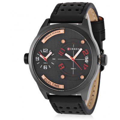 CURREN 8252 Fashion Dual Movements Men Quartz Watch