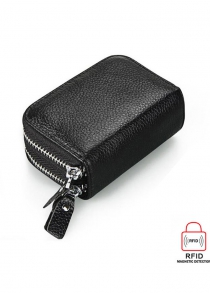 Anti-theft Leather RFID Wallet