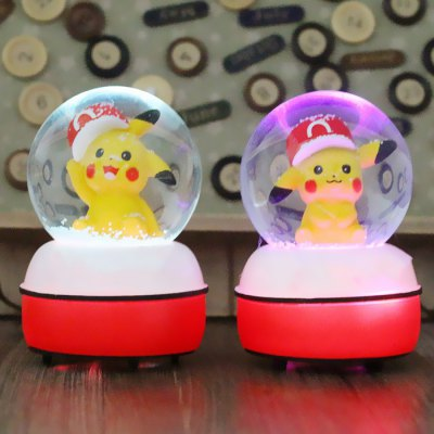 DECAKER 5.3 inch 3D Colorful LED Light Crystal Toy - 1pc