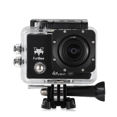 FuriBee Q6 WiFi 4K Ultra HD Action Sport CameraAction Cameras<br>FuriBee Q6 WiFi 4K Ultra HD Action Sport Camera<br><br>Brand: FuriBee<br>Model: Q6<br>Type: Sports Camera<br>Type of Camera: 4K<br>Chipset Name: Allwinner<br>Chipset: Allwinner V3<br>Max External Card Supported: TF 64G (not included)<br>Screen size: 2.0inch<br>Screen type: LCD<br>Screen resolution: 320x240<br>Battery Type: External<br>Battery Capacity (mAh): 900mAh<br>Charge way: AC adapter,Car charger,USB charge by PC<br>Working Time: 90min at 1080P<br>Standby time: 70 minutes<br>Charging Time: 2h<br>Wide Angle: 170 degree wide angle<br>Camera Pixel : 16MP<br>Optical Zoom  : Yes<br>ISO: Auto,ISO100,ISO1600,ISO200,ISO400,ISO800<br>Lens Diameter: 17mm<br>Decode Format: H.264<br>Video format: MP4<br>Video Resolution: 1080P(30fps),1080P(60fps),2.7K (30fps),4K (30fps),720P (120fps)<br>Video Frame Rate: 120fps,30FPS,60FPS<br>Image Format : JPEG<br>Audio System: Built-in microphone/speaker (AAC)<br>Microphone: Built-in<br>WIFI: Yes<br>WiFi Function: Image Transmission,Remote Control,Settings,Sync and Sharing Albums<br>WiFi Distance : 5m<br>Waterproof: Yes<br>Waterproof Rating : IP68, 30m waterproof<br>Night vision : No<br>Camera Timer: Yes<br>Time lapse: Yes<br>Auto Focusing: No<br>Anti-shake: No<br>Aerial Photography: No<br>Interface Type: Micro HDMI,Micro USB,TF Card Slot<br>Language: Deutsch,Dutch,English,French,Italian,Japanese,Korean,Polski,Portuguese,Russian,Simplified Chinese,Spanish,Thai,Traditional Chinese,Turkish<br>Frequency: 50Hz,60Hz,Auto<br>Product weight: 0.058 kg<br>Package weight: 0.578 kg<br>Product size (L x W x H): 6.00 x 3.00 x 4.00 cm / 2.36 x 1.18 x 1.57 inches<br>Package size (L x W x H): 16.40 x 6.00 x 27.00 cm / 6.46 x 2.36 x 10.63 inches<br>Package Contents: 1 x Action Camera, 1 x Waterproof Housing + Mount + Screw, 1 x English User Manual, 1 x Power Adapter, 1 x Handle Bar Mount, 1 x J-shaped Mount, 3 x Connector, 3 x Screw, 1 x Tripod Mount, 1 x Tripod